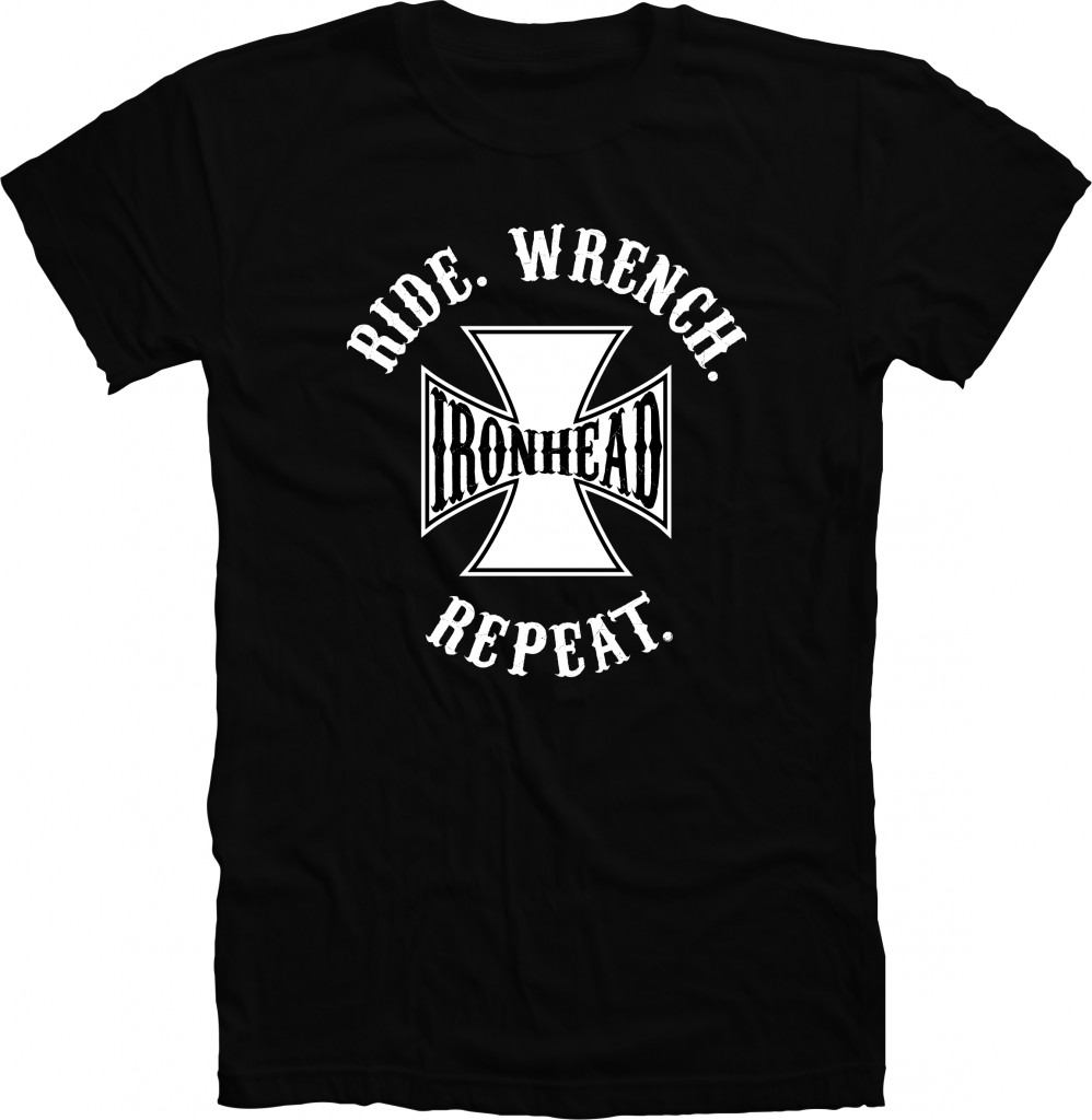 RIDE WRENCH REPEAT- IRONHEAD shirt