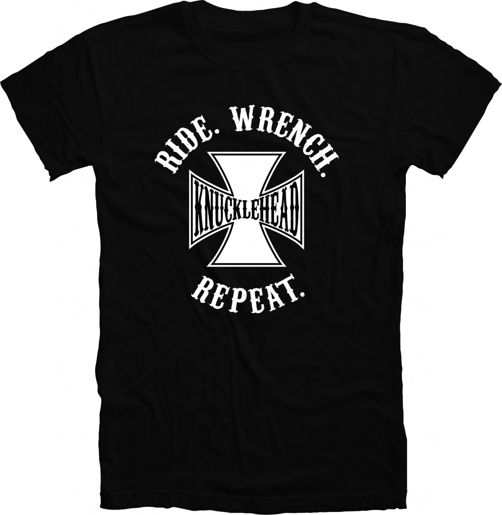 RIDE WRENCH REPEAT - KNUCKLEHEAD shirt