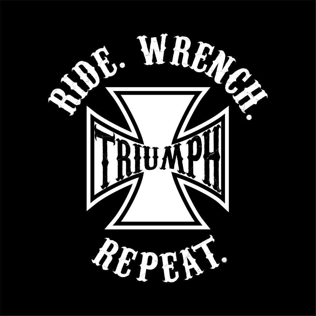 RIDE WRENCH REPEAT - TRIUMPH graphic