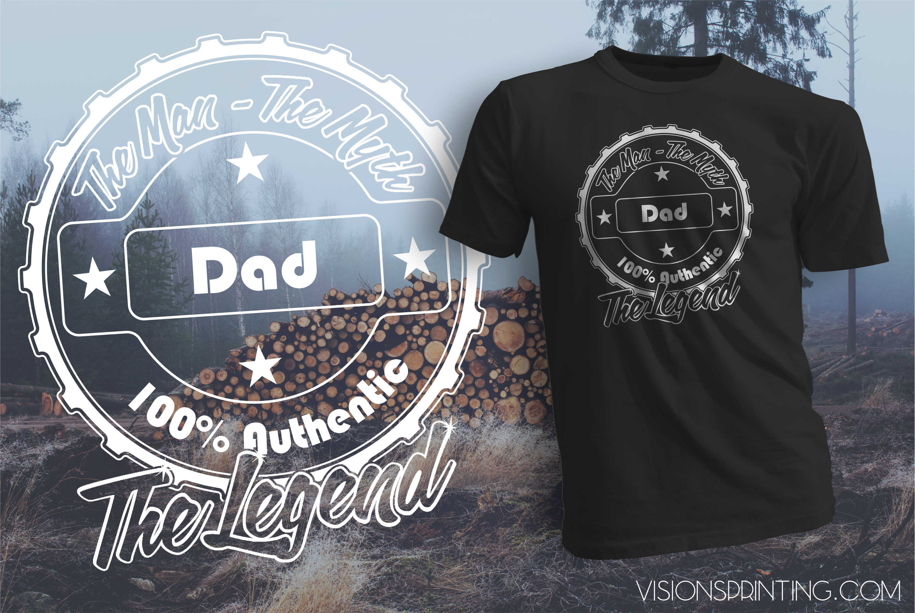 Gift for Dad T-shirt The Man The Myth The Legend Best Fathers Day GIft for Dad